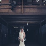 Inside stables during bridal shoot